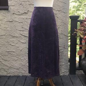 Sienastudio purple leather skirt